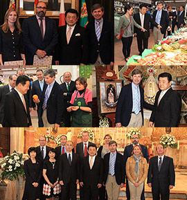 Recepción oficial en Castellón a la delegación de la ciudad japonesa de Ube