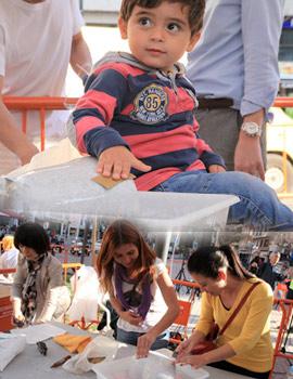 Imágenes de la participación de los castellonenses en el proyecto Love Stone de UBE
