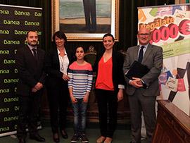 Delfina Santamaría, ganadora del sorteo de la campaña 'Regálate 3.000 euros'