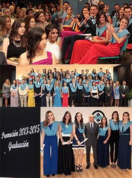 Acto de graduación en Bachillerato del colegio San Cristóbal