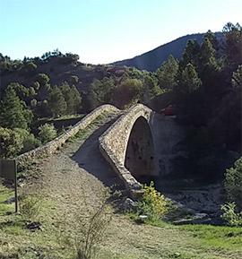 Puente romano de las Maravillas en Vistabella del Maestrazgo