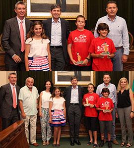 Participantes en el Campeonato Nacional de Cálculo Aloha Mental Arithmetic