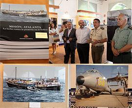 Inauguración de la exposición del Ministerio de Defensa