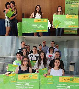Entrega de la beca Compromiso BP Educación a Eva Das y Mireia Batiste Valls