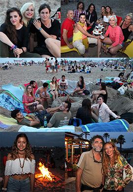 Imágenes de la noche de San Juan en la playa del Gurugú del Grao de Castellón