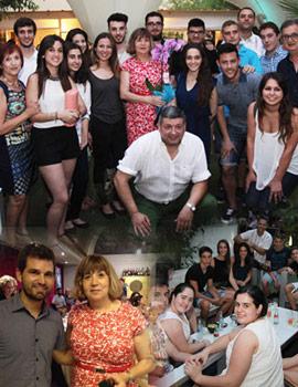 Fiesta dedicada a Clotilde Pilar Claramonte en el Casino Antiguo por su jubilación