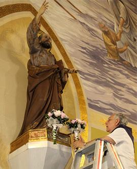 Ofrenda de flores a Sant Pere