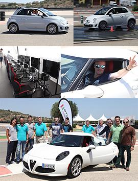 Comauto organiza un curso de conducción para clientes con los Abarth 500 y el Alfa 4C