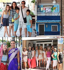 Imágenes que capturan momentos de la gente en Sant Pere en el Grao