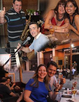 Buena música en verano, en la terraza del restaurante Divina Comedia