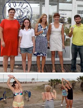 La alcaldesa Amparo Marco visita el Punt Bebé de la playa de Castellón