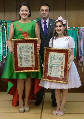 Carla Bernat Pascual y Sandra Gimeno Guerrero, madrinas de la Gaiata 17 Magdalena 2016