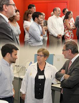 El rector y el conseller de Educación visitan el primer módulo de la Facultad de Ciencias de la Salud