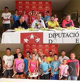 Presentación del XXXII Circuito provincial de tenis de Castellón