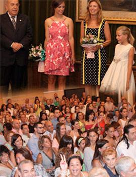 Recepción institucional en el Salón de Plenos a las Reinas y Damas de la Magdalena 2016
