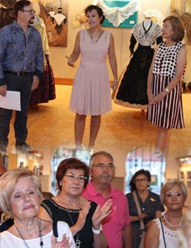 Inauguración de la exposición de pintura e indumentaria de Pepe Mora y Confecciones Pitarch en el Edificio Moruno, solidaria contra el cáncer