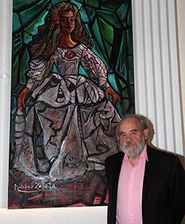 Inauguración de la exposición de Melchor Zapata en el Casino Antiguo de Castellón