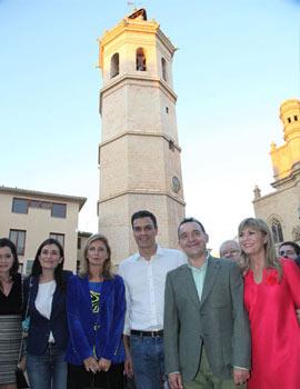 Pedro Sánchez, secretario general del PSOE, en su visita a Castellón