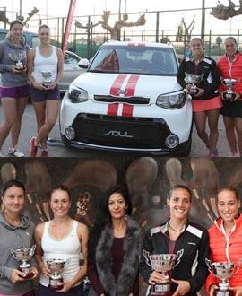La pareja Noelia Bouzo y Olga Sáez ganan la final de dobles del torneo WTA en el Club de Tenis Castellón