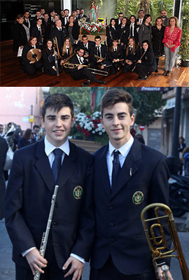 Nuevos músicos en la Banda de la Unión Musical Santa Cecilia de Benicàssim