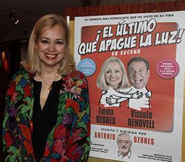 Enma Ozores protagoniza el sábado una  surrealista comedia en Castellón