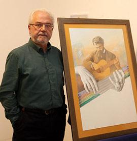 Amat Bellés autor del cartel del aniversario del certamen de guitarra Francisco Tárrega