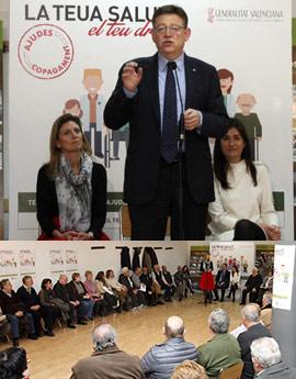 Presentación de la campaña frente al copago en Castellón
