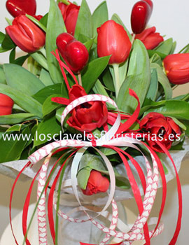 Flores para el día de los enamorados de Floristería Los Claveles