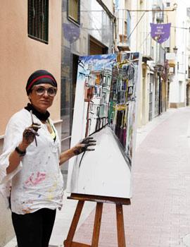 Agustina Ortega gana el concurso de Pintura Rápida Casco Antiguo de Castellón