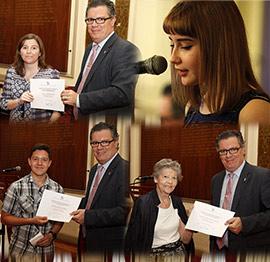 Recital poético y entrega de premios  ALCAP 2016