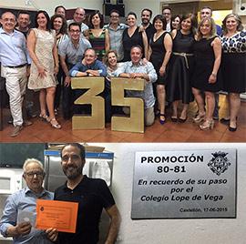 Recuerdo del paso por el colegio Lope de Vega de Castellón