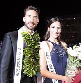 Clara López y Mario Orellana, Miss y Mister Ciudad de Castellón