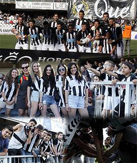 Aficionados y entidades arropan al CD Castellón