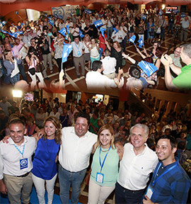 El Partido Popular de Castellón celebra el resultado de las elecciones