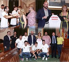 Recepción en el Ayuntamiento al Club Deportivo Castellón