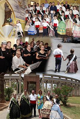 Ofrenda de flores a San Pedro en las fiestas del Grao de Castellón