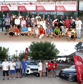 Entrega de premios del campeonato de pádel Kia