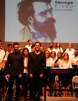 La Unión Musical Santa Cecilia de Benicàssim en concierto homenaje a Francisco Tárrega