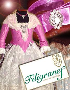 La indumentaria del siglo XVIII de Filigranes en Torreblanca para Claudia Vinuesa