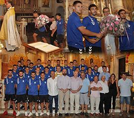 Ofrenda de flores del CD Castellón a la Mare de Déu del LLedó