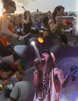Los jamaicanos Junior Kelly, Wailing Souls y Randy Valentine el viernes en el Rototom