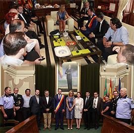 Encuentro en el Ayuntamiento de Castellón con el alcalde de la ciudad rumana de Targoviste