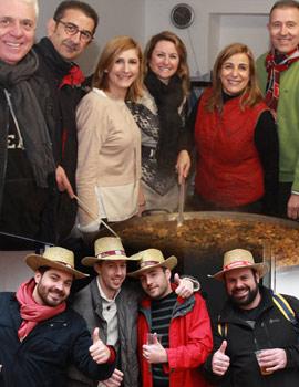 El frio y la lluvia no fueron impedimento para celebrar el gran día de paellas en Benicàssim