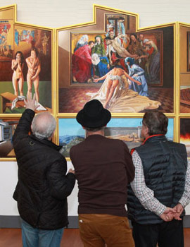 El artista Amat Belles en el Museu de Belles Arts de Castello explica su obra