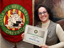 Patricia Mir gana el concurso de relatos cortos Colla del Rei Barbut