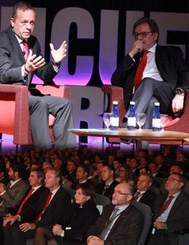 El presidente del Grupo Prisa, Juan Luis Cebrián en el VIII Encuentro de Empresas