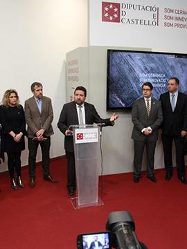 El stand en Cevisama de la Diputación de Castellón, punto de encuentro de la cerámica castellonense