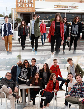 El restaurante Puerta del Sol y And Magazine con los actores de ´´Nada será igual´´