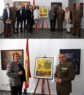 Entrega a Subdelegación de Defensa del cuadro conmemorativo por el 9 de marzo