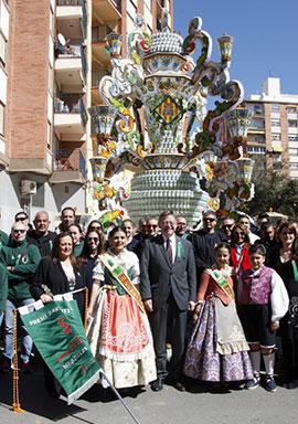 Ximo Puig visita a la gaiata 15 Sequiol, monumento ganador